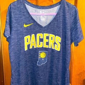 Nike Dri Fit Indiana Pacers Short Sleeve Shirt Top